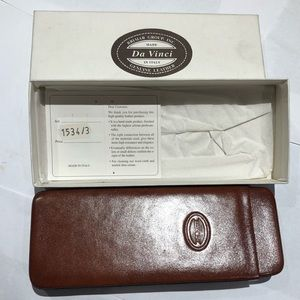 Accessories - NWT Tobacco genuine leather case pouch